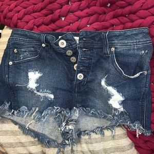 high waisted vintage guess shorts